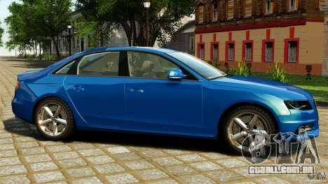 Audi A4 2010 para GTA 4 esquerda vista