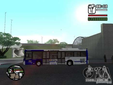 Busscar Urbanuss Ecoss MB 0500U Sambaiba para GTA San Andreas esquerda vista
