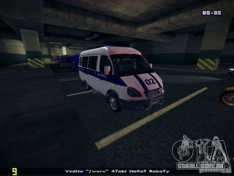 Polícia de gazela 2705 para GTA San Andreas