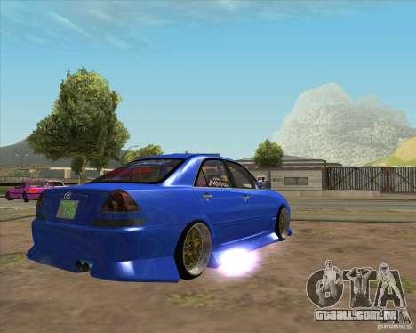 Toyota JZX110 make 2 para GTA San Andreas traseira esquerda vista