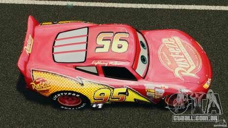 Lightning McQueen para GTA 4 vista direita
