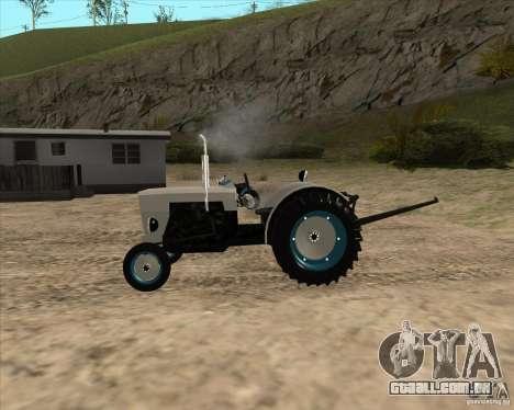 Trator para GTA San Andreas esquerda vista