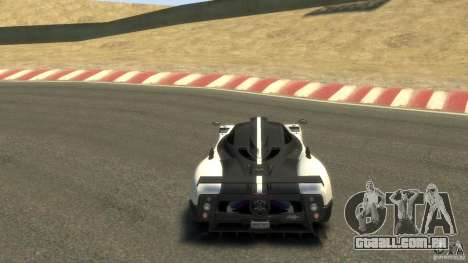 Pagani Zonda Cinque 2009 para GTA 4 vista direita