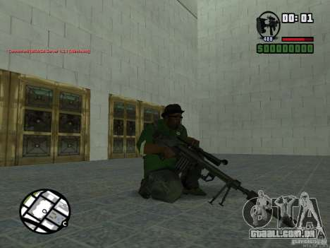 Black Weapon by ForT para GTA San Andreas quinto tela