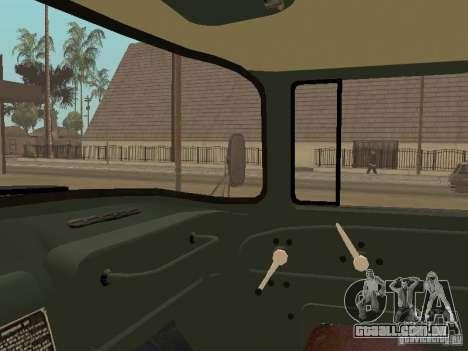 ZIL 131 caminhão para vista lateral GTA San Andreas