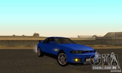 Nissan Skyline GT-R R-33 v2.0 para GTA San Andreas vista traseira