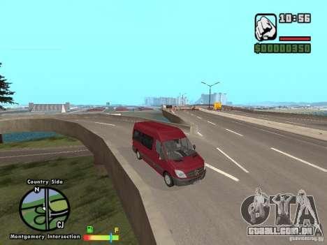 Mercedes-Benz 311 CDi para GTA San Andreas traseira esquerda vista