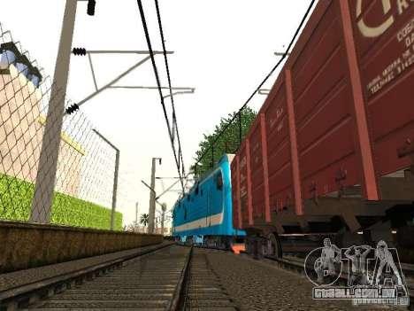 Animtrain para GTA San Andreas quinto tela