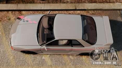 Nissan Skyline GT-R (BNR32) para GTA 4 vista direita