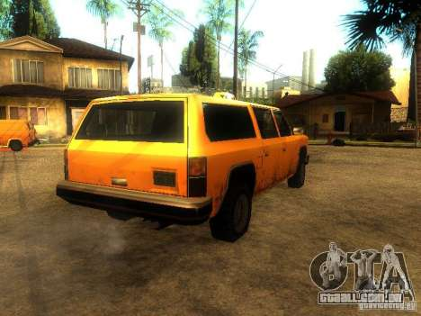 Taxi Rancher para GTA San Andreas traseira esquerda vista