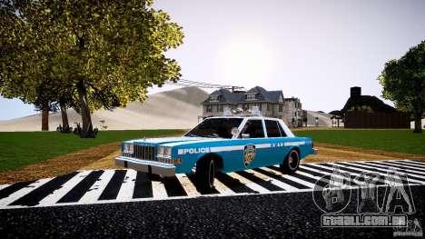 Dodge Diplomat 1983 Police v1.0 para GTA 4