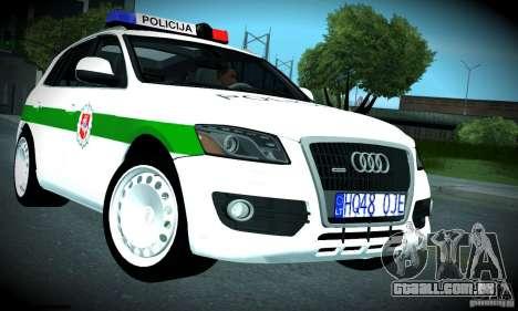 Audi Q5 TDi - Policija para GTA San Andreas vista interior