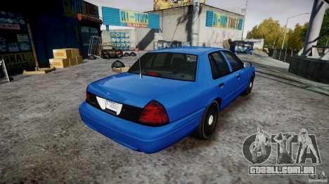 Ford Crown Victoria Detective v4.7 [ELS] para GTA 4 vista interior