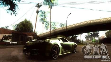 Bugatti Veyron Life Speed para GTA San Andreas vista direita