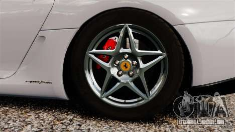 Ferrari 599 GTB Fiorano 2006 para GTA 4 vista interior