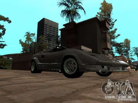 Lamborghini Countach 25th para GTA San Andreas traseira esquerda vista