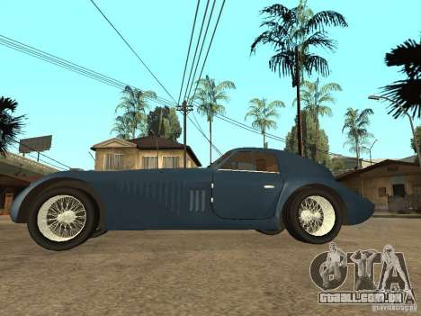 Alfa Romeo 2900B LeMans Speciale 1938 para GTA San Andreas esquerda vista