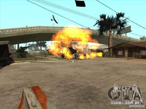 O script CLEO: metralhadora no GTA San Andreas para GTA San Andreas quinto tela