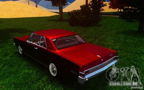 Pontiac GTO 1965 FINAL para GTA 4 traseira esquerda vista