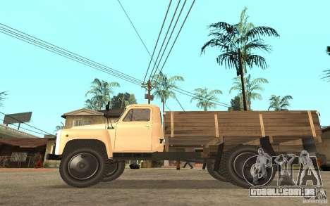 Gaz-52 para GTA San Andreas vista traseira