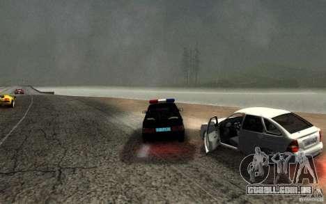 DPS DE ВАЗ 2114 para GTA San Andreas vista interior