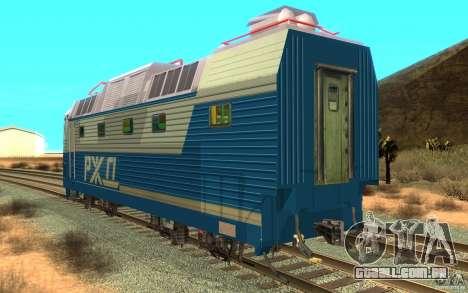 Lokomotiv ChS7-082 para GTA San Andreas traseira esquerda vista