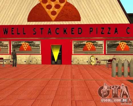 Comprar pizza para GTA San Andreas por diante tela