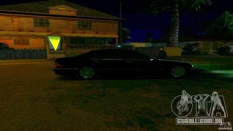 Mercedes S500 para GTA San Andreas traseira esquerda vista