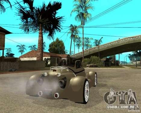 Messerschmitt GT500 Tiger Hard tuned para GTA San Andreas traseira esquerda vista