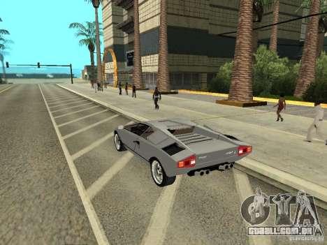 Lamborghini Countach LP400 para GTA San Andreas esquerda vista