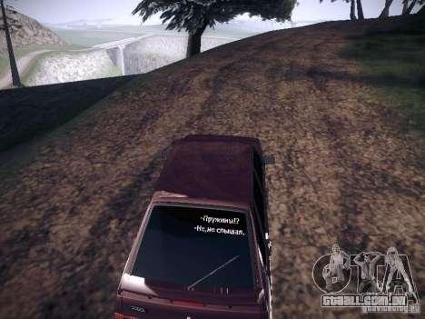 Ваз 2114 Pneumo para GTA San Andreas vista direita