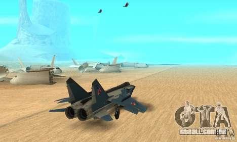 MiG-31 Foxhound para GTA San Andreas esquerda vista