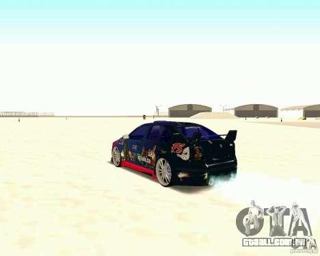 Skoda Octavia III Tuning para GTA San Andreas vista traseira