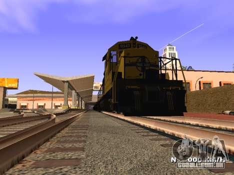 SD 40 UP BN Santa Fe para GTA San Andreas traseira esquerda vista