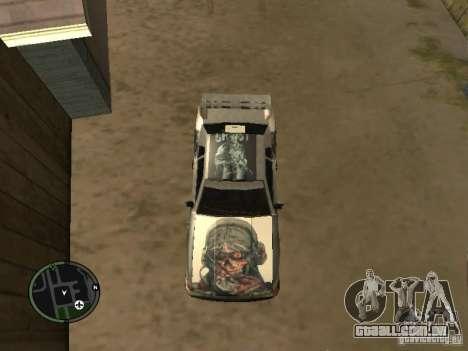 Fantasma de vinil para Elegy para GTA San Andreas traseira esquerda vista