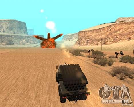 KrAZ-63211 JAMZ v. 1 para GTA San Andreas traseira esquerda vista