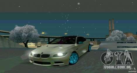 BMW E92 para GTA San Andreas traseira esquerda vista