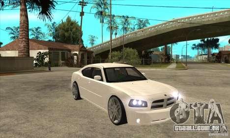 Dodge Charger R/T 2006 para GTA San Andreas vista traseira