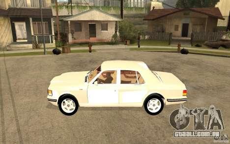 Bentley Turbo RT para GTA San Andreas esquerda vista