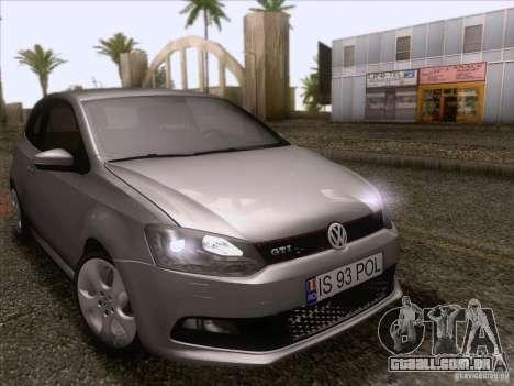 Volkswagen Polo GTI 2011 para GTA San Andreas vista interior