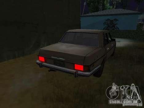 Mercedes-Benz de Call of Duty 4 para GTA San Andreas traseira esquerda vista