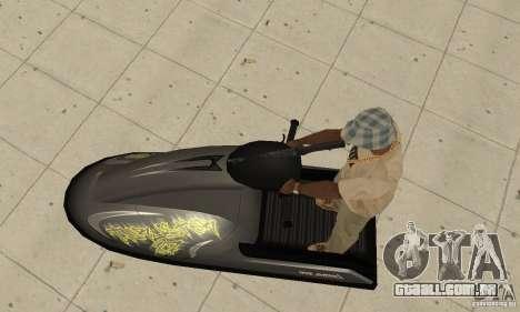 Scooter de água para vista lateral GTA San Andreas