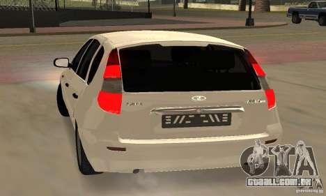 Lada Kalina Hatchback Stock para GTA San Andreas vista direita