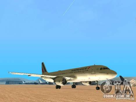 Airbus A320 Air France para GTA San Andreas esquerda vista