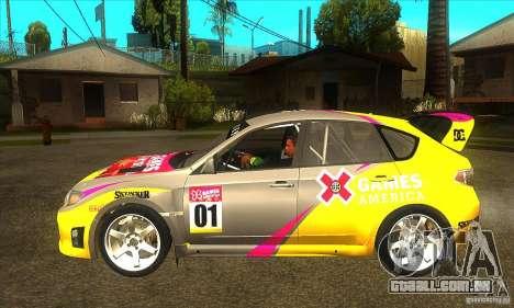 Subaru Impreza WRX STi X jogos América de DIRT 2 para GTA San Andreas esquerda vista