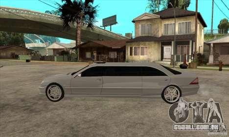 Mercedes-Benz CL65 Limusine para GTA San Andreas esquerda vista