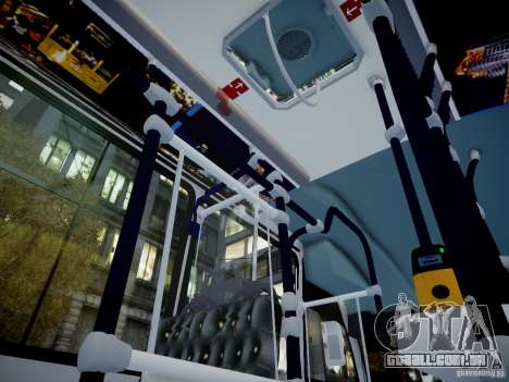 Scania K230 MTA New York City Bus para GTA 4 vista de volta