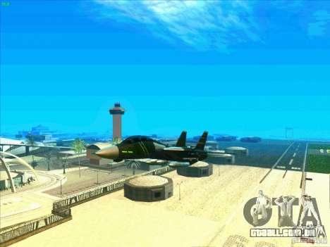 F-14 Tomcat Schnee para GTA San Andreas vista inferior