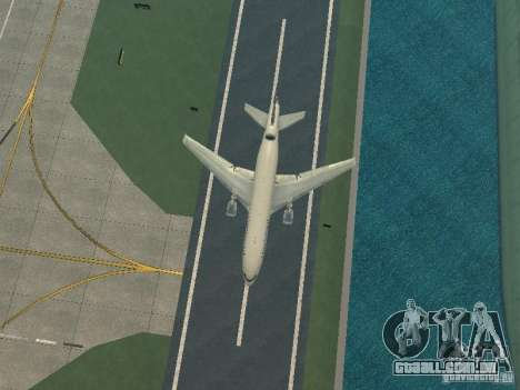 McDonell Douglas DC10 Continental Airlines para GTA San Andreas vista interior
