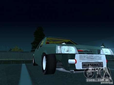 Arrastar 2109 VAZ para GTA San Andreas vista traseira